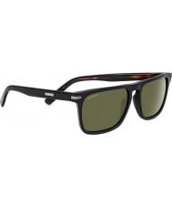 Serengeti Carlo glänzend schwarz polarisierten Sonnenbrillen 555nm