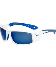 Cebe Ice 8000 glänzend weiß blau Sonnenbrille