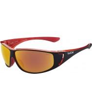Bolle Highwood glänzend schwarz rot polarisiert tns Feuer Sonnenbrille