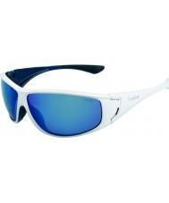 Bolle Highwood weiß glänzend blau polarisiert Offshore-blaue Sonnenbrille