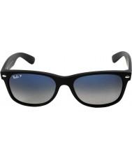RayBan RB2132 55 neue Wayfarer mattschwarz 601s78 polarisierten Sonnenbrillen