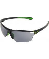 Cebe Cinetik große glänzend schwarz grün Sonnenbrille