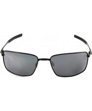 Oakley Oo4075-01 Vierkantdraht poliert schwarz - schwarze Sonnenbrille Iridium