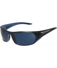 Bolle Blacktail glänzend schwarz blau polarisiert Offshore-blaue Sonnenbrille