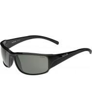 Bolle Keelback glänzend schwarz Modulator grau Sonnenbrille polarisiert