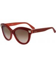 Valentino Damen v695s Englisch roten Sonnenbrillen