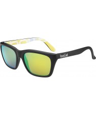 Bolle 527 Retro Sammlung matt schwarz Grafiken polarisiert braun Smaragd Sonnenbrille