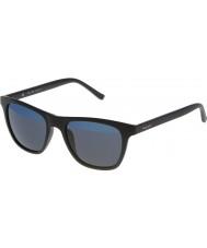 Police Mens hot 1 s1936v-u28b matt schwarz verspiegelt blauen Sonnenbrillen