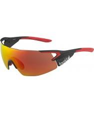 Bolle 5. Element pro glänzend matt Carbon rot tns Feuer Sonnenbrille