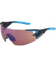 Bolle 5. Element pro mattem Carbon blaue Rose-blaue Sonnenbrille