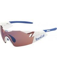 Bolle 6. Sinn glänzend weiße Rose blaue Sonnenbrille