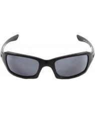 Oakley Oo9238-04 Fünfer squared poliert schwarz - grau Sonnenbrille