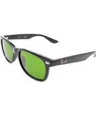 RayBan Junior Rj9052s 47 neue Wayfarer glänzend schwarz 100-2 Sonnenbrille