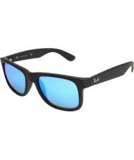 RayBan RB4165 Justin Black 622-55 Blue Mirror