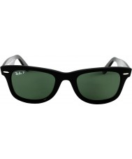 RayBan RB2140 Original Wayfarer Black Green Polarized