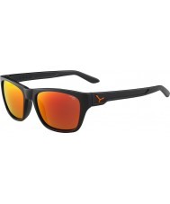Cebe Hacker matt grau 1500 grau Flash Spiegel Orange Sonnenbrille