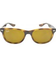 RayBan Junior Rj9052s 47 neue Wayfarer glänzend havanna 152-3 Sonnenbrille