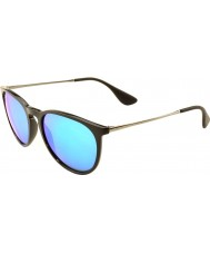 RayBan Rb4171 54 erika schwarz 601-55 blaue Sonnenbrille verspiegelt