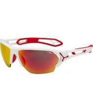 Cebe S-Spur große matt weiß rot Sonnenbrille