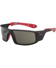 Cebe Ice 8000 matt schwarz rot variochrom Spitze Sonnenbrille