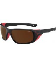 Cebe Jorasses groß matt schwarz rot 2000 braun Flash-Spiegel-Sonnenbrille