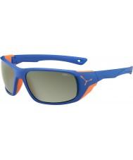 Cebe Jorasses groß matt blau orange variochrom Spitze Flash Spiegel Sonnenbrille