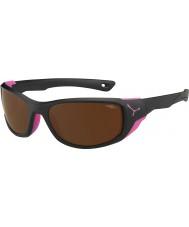 Cebe Jorasses Medium matt schwarz pink 2000 braun Flash-Spiegel-Sonnenbrille