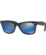 RayBan RB2140 50 Original Wayfarer blauen Gradienten auf hellblau 120368 blauen Sonnenbrille Spiegel