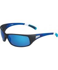 Bolle 12436 Rückstoß schwarze Sonnenbrille