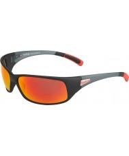 Bolle 12438 Rückstoß schwarze Sonnenbrille