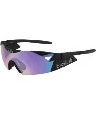 Bolle 6. Sinn s matt-schwarz blau-violette Sonnenbrille