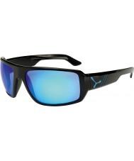 Cebe Maori schwarz glänzenden blauen Sonnenbrillen