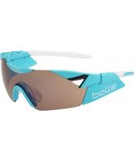Bolle 6. Sinn glänzend blau Modulator stieg Pistole Sonnenbrille