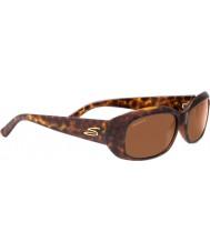 Serengeti Bianca Glitzerschildpatt polarisierte Sonnenbrille Treiber