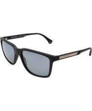Emporio Armani Ea4047 56 moderne schwarze Gummi 506.381 polarisierte Sonnenbrille