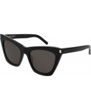 Saint Laurent Damen sl 214 kate 001 55 Sonnenbrille