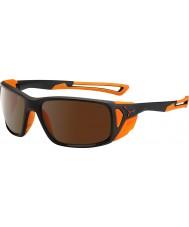 Cebe ProGuide matt schwarz orange 2000 braun Sonnenbrille Flash-Spiegel
