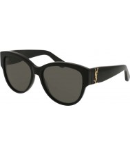 Saint Laurent Damen sl m3 002 55 Sonnenbrille