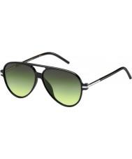 Marc Jacobs Marc 44-s d28 ib glänzend schwarze Sonnenbrille