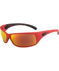 Bolle 12127 Rückstoß rote Sonnenbrille