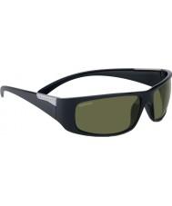 Serengeti Fasano glänzendem Satin schwarz polarisierten phd 555nm Sonnenbrille