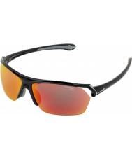 Cebe Wilde glänzende schwarze mehrschichtige Sonnenbrille