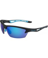 Bolle Bolzen mattschwarze blaue Sonnenbrille