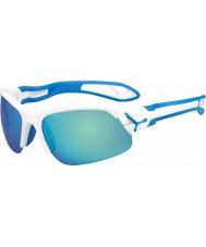 Cebe Cbspring3 s-pring weiße blaue Sonnenbrille