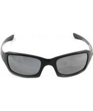 Oakley Oo9238-06 Fünfer squared poliert schwarz - schwarz Iridium polarisierten Sonnenbrillen