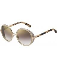 Jimmy Choo Damen andie-s J7a nh Gold Nackt havanna Goldspiegel-Sonnenbrille