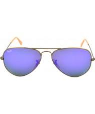RayBan RB3025 58 Flieger große Metall gebürstet Sonnenbrille Bronze 167-1m