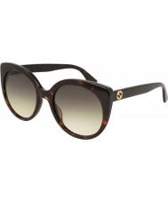 Gucci Damen gg0325s 002 55 Sonnenbrille