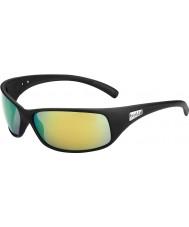 Bolle Recoil matt schwarz polarisiert braun Smaragd Sonnenbrille
