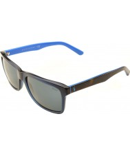 Polo Ralph Lauren Ph4098 57 legeres Wohnen transparent blau 556387 Sonnenbrille